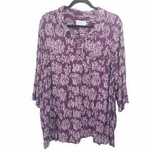 Prescott new york purple dot blouse 5x